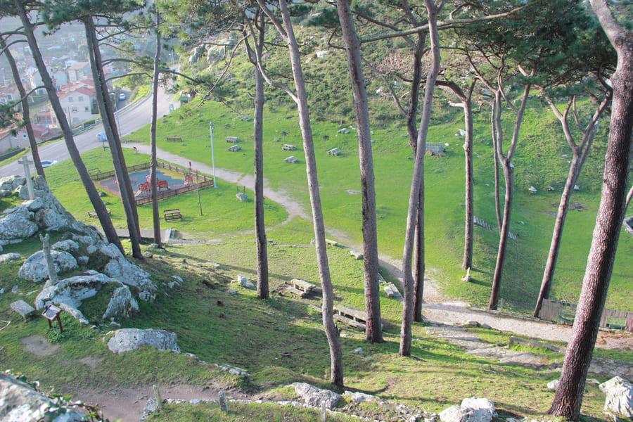 merendero y parque en la virgen de la roca baiona