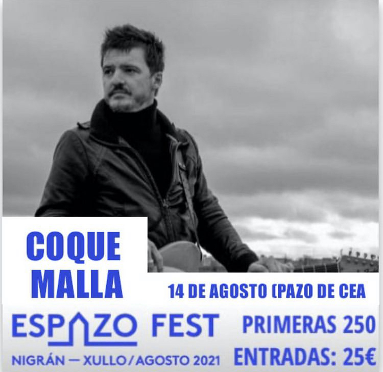 Espazo Fest. Concierto de Coque Malla en el Pazo de Cea (Nigrán)